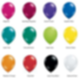 Balloon Colours (Magenta, Burgandy, Purple, Blue, Teal, Emerald Green, Lime, Citrine Yellow, Mandarin Orange, Ruby Red, Black, Clear