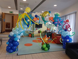 Under the sea Party balloon arch