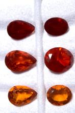 Ópalos de Fuego Facetados Distintos Tonos de Naranja y Rojos