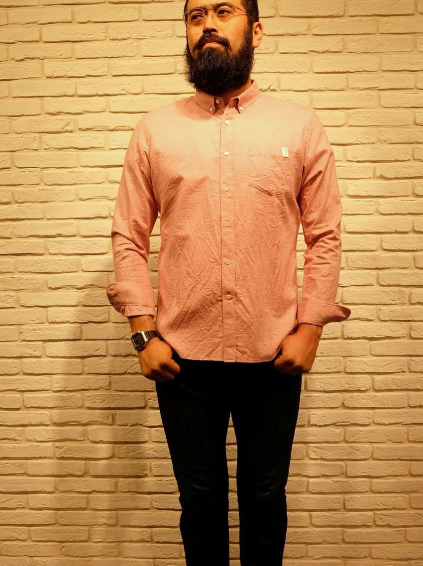 finger fox and shirts Oxford pink