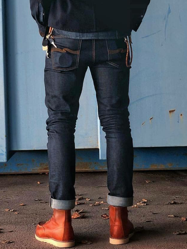 Nudie Jeans Dry Japan Selvage Lean Dean ヌーディージーンズ ドライジャパンセルヴィッチ リーンディーン