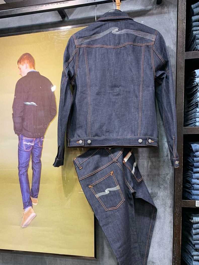 Nudie Jeans KENNY Ecru Embo ヌーディジーンズ ケニー デニジャケ Denim jacket THIN FINN