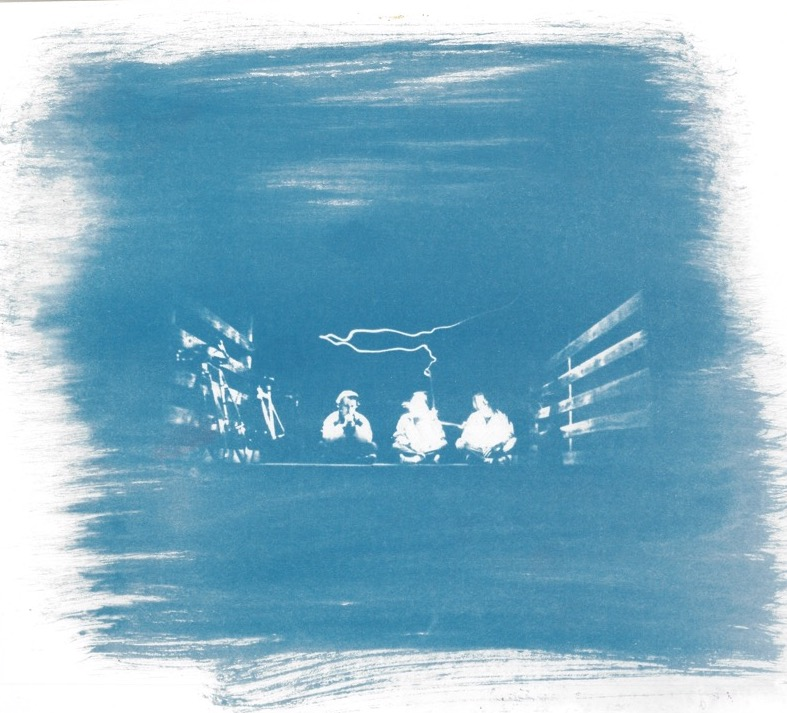 Night Riders - Cyanotype