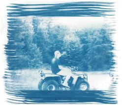 Gravel Pit - Cyanotype