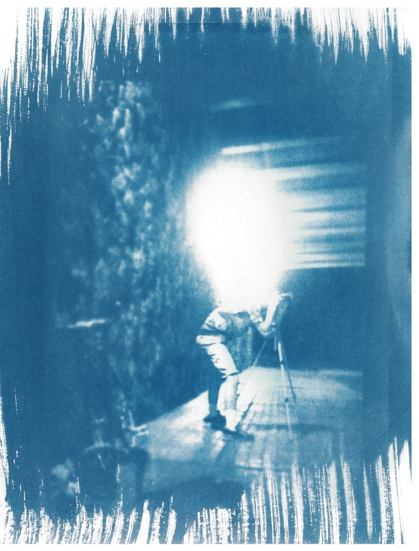 Shooting Augie - Cyanotype