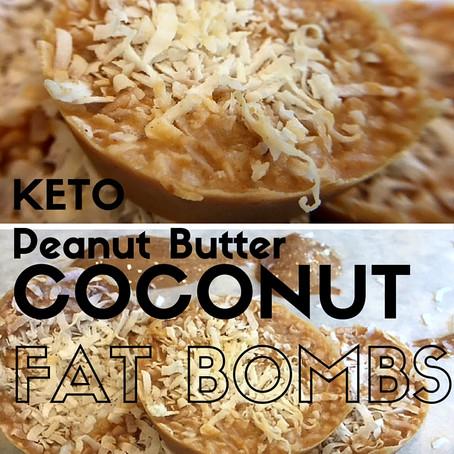 Keto Coconut Peanut Butter Fat Bombs