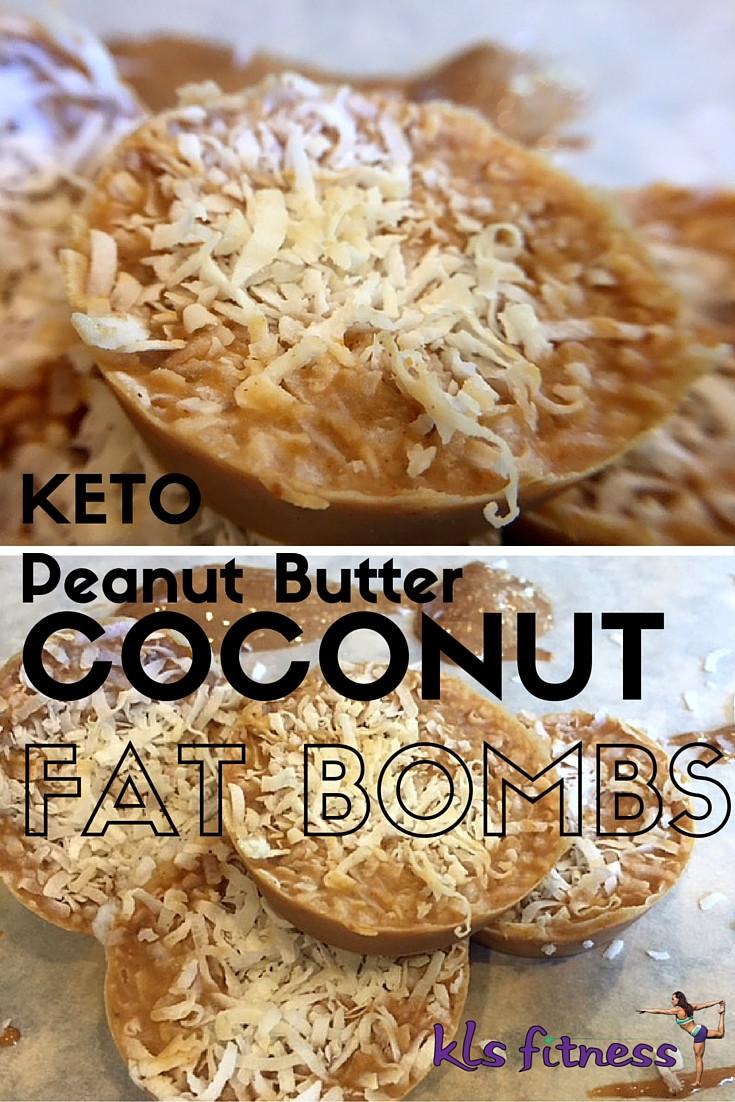 kETO PEANUT BUTTER COCONUT FAT BOMBS