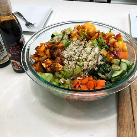 Round Ligament Pain & Romaine & Spinach Chicken Salad