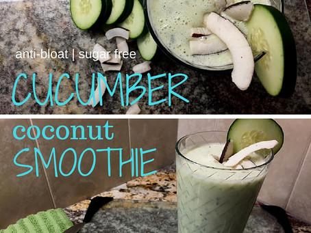 Anti-Bloat | Sugar Free | Cucumber Coconut Smoothie
