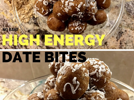 No Bake High Energy Date Bites