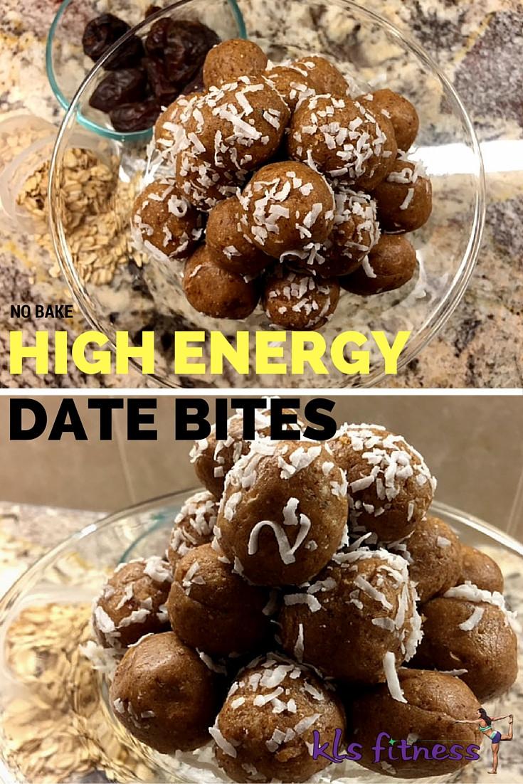 No Bake High energy date bites