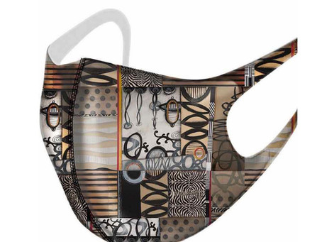 Need a creative new COVID mask with a Janet O'Neal design?