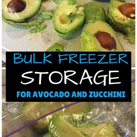 Bulk Freezer Storage | Avocado & Zucchini