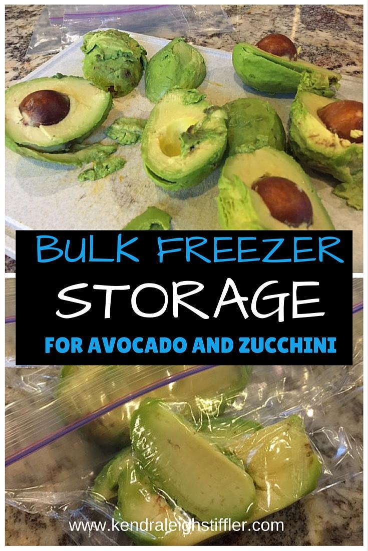 KLS Fitness, bulk freezer storage, avocados and zucchini