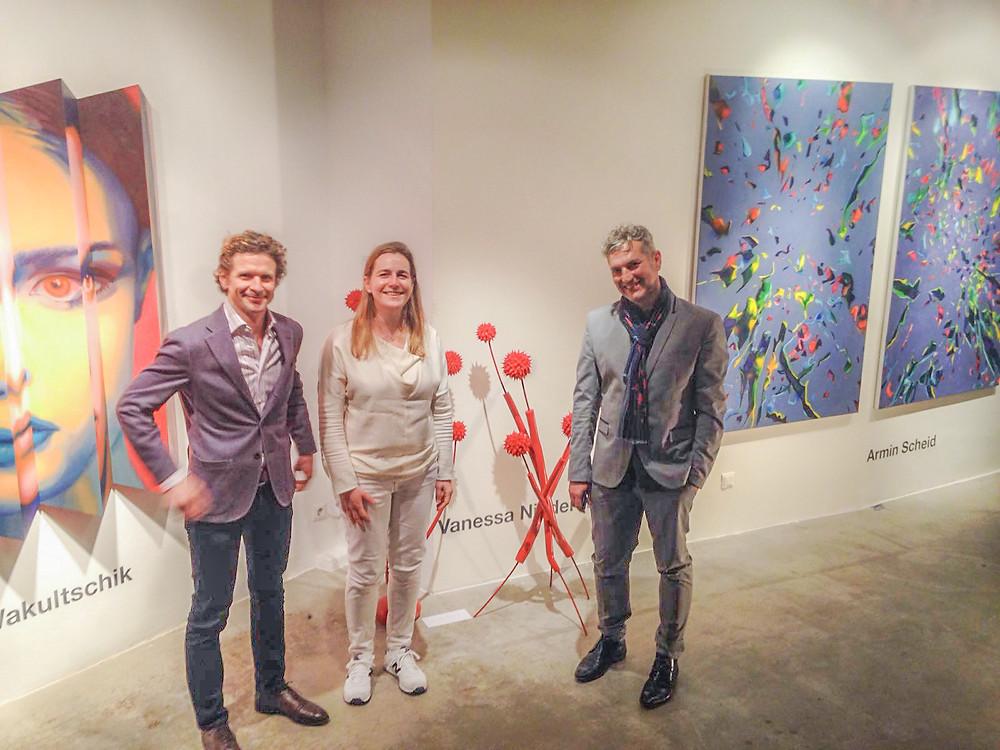 Maxim Wakultschik, Vanessa Niederstrassen und Armin Scheid