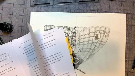 Creating the illustration for 'One Of A Kind' from the book 'Only if You Dare' by Josh Allen. BE AFRAID!