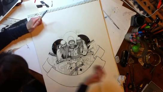Inkymole creates artwork for 12- record