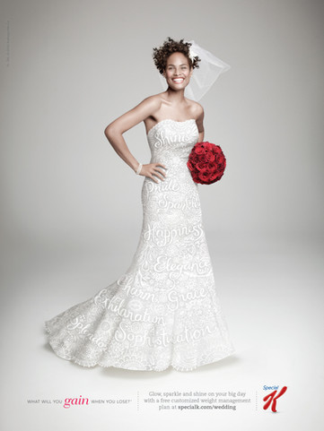 Illustrated wedding dress for Special K, USA