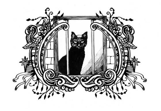 CatInWindow_Framed.jpg