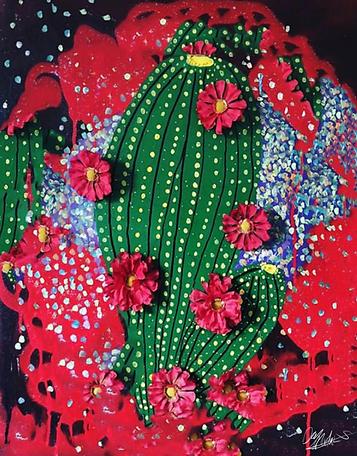 Blooming Cactus By Devy Mortals