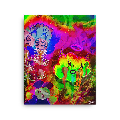 Cloudy by Devy Mortals on Canvas print