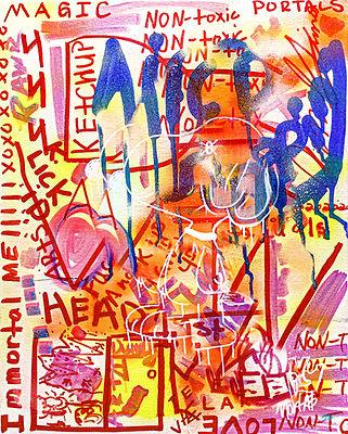 Devy Mortals Abstract Print