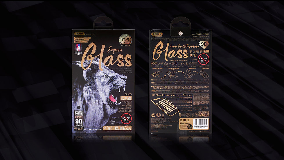 Emperor series Tempered Glass 9H Privacy