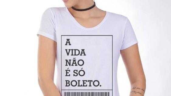 T-shirt A Vidanão é só boletos
