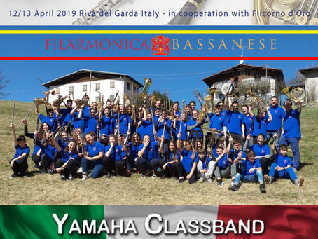 EUROPEAN YAMAHA CLASS BAND FESTIVAL 2019CLASS BAND FILARMONICA BASSANESE: PRESTIGIOSO APPUNTAMENTO