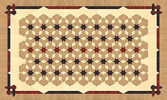 """MRE001A Rectangular 3' x 5' Inlay, """"Carpet"""""""