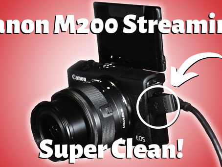 Finally! The Perfect Camera For Live Streaming & YouTube - Canon M200 Camera