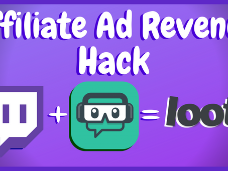 How To Make Money As A Twitch Affiliate - Ad Revenue Secret!
