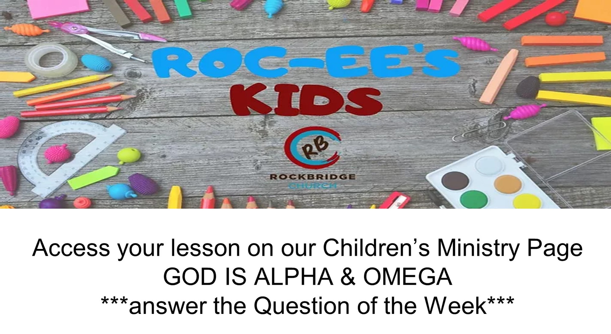 Rocee Kids Weekly Lesson For January 17,
