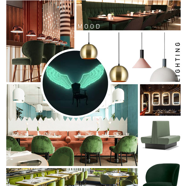 Unit 5A, The village - Mood Board_Green.