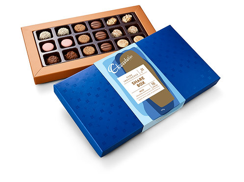 """Chocolatier Pure Indulgence """"Share Box"""" Milk Chocolates"""