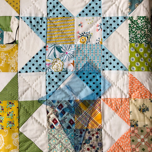 A Brighter Star pattern with template by Yarra Design
