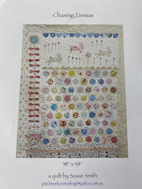 Chasing Zinnias Pattern by Susan Smith