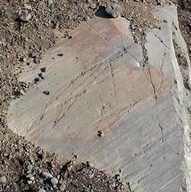 Glacial striations on bedrock - Iceland