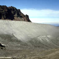 Lateral moraine and ground moraine - Col