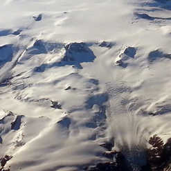 Greenland icecap with outflow ice stream