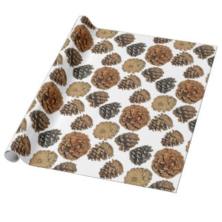 Ponderosa Pine Cone Wrapping Paper