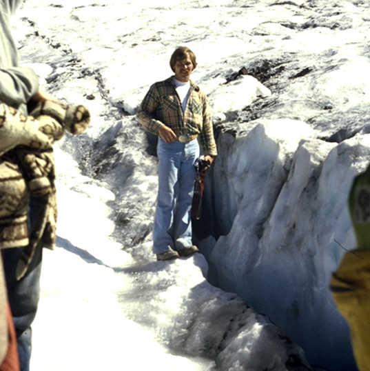 Crevasse - Collier Glacier near terminus