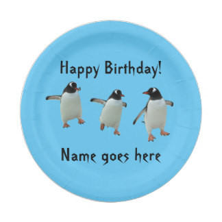 Dancing Penguin Party Plate
