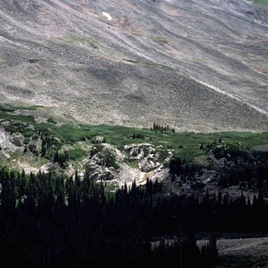 Mt Antero Colorado - u-shaped valley - p