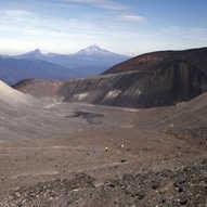 Terminal moraine - cinder cone - Cascade