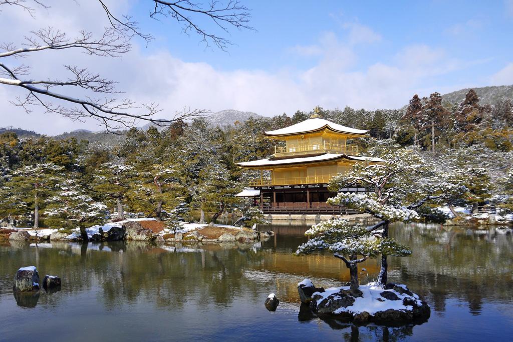 金閣寺 冬