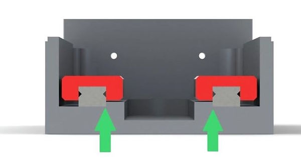 Showing how to position linear guides into a linear stage