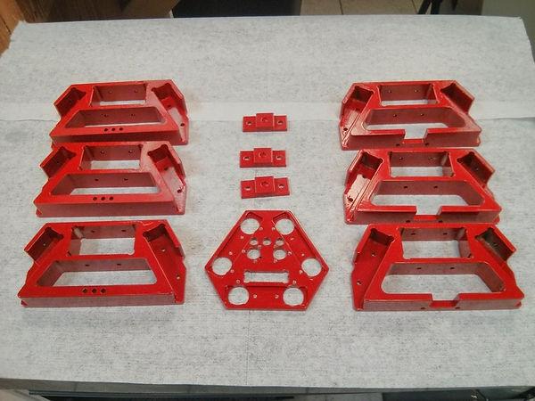 Powder coated custom cnc machined parts to make 3d delta printer