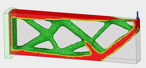 Results of FEA shape optimization on a cantilever beam in fusion 360