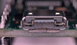USB Connector Under The Microscope
